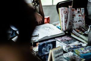 Sortiment Artist Alley Convention ComicCon