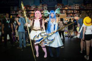 Cosplayer auf einer Convention