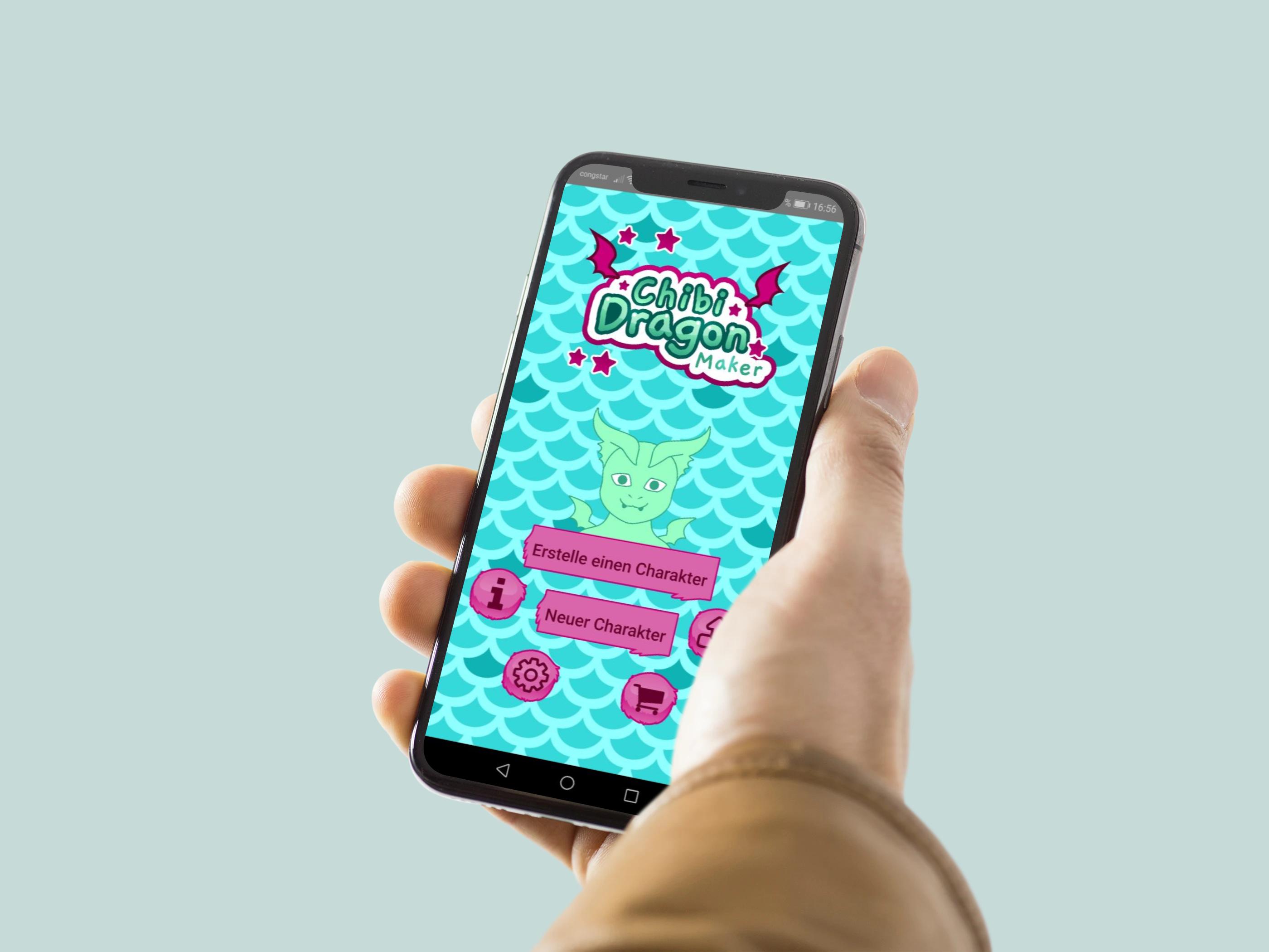 Chibi Dragon Maker app Start Screen